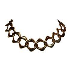 Yves Saint Laurent 18 kt Gold Plated Chain Necklace. #Ebay #TreasureTroveNYC #nyc #onekingslane #18kt #Gold #Chain #Necklace  #Plated