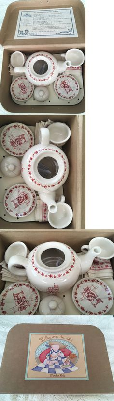 Dishes Tea Sets 19171: Moulin Roty First Year Boxed Porcelain Tea Set Finest Quality See Zoom -> BUY IT NOW ONLY: $59 on eBay!