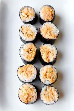 Baked mayonnaise crabmeat asian imitation with