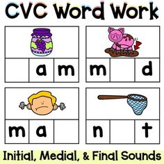CVC Word Work {Identifying Initial, Medial, & Final Sounds} by TheHappyTeacher Word Work Activities, Magnetic Letters, Social Emotional Learning, Cvc Words, Dry Erase Markers, Letter Sounds, Teacher Newsletter, Task Cards, Phonics
