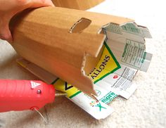 Fabulous advice for constructing with cardboard, plus a link to cardboard crafts!