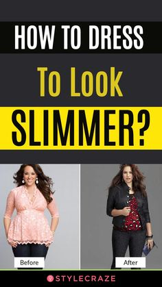 How To Dress To Look Slimmer Every women's dream is to look slim and stunning. Without further delay, let's go right and discuss tips and hacks on how to dress to look slimmer, have a look - How To Dress To Look Slimmer - 10 Tips & Tricks Look Thinner, How To Look Skinnier, Fashion Tips For Women, Fashion Advice, Fashion For Chubby Ladies, Ladies Fashion, Short Girl Fashion, Skinny Image, Paraître Plus Mince