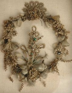 Victorian Mourning hair art....beautiful