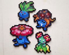 Oddish | Gloom | Vileplume | Bellossom | Pokemon | Perler Bead | 8bit | Nintendo | Sprite |