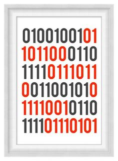 I Love You in Binary - Printable Poster - Vertical 24x36 This is a digital listing. When you purchase, you will immediately be emailed a