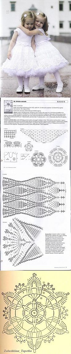 Festive knitted dress for girl of the circuit. Children's fancy dress Crochet | All of needlework: the scheme, master classes, ideas Online labhousehold.com