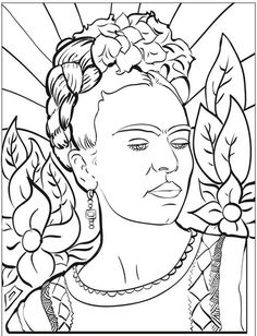 Frida Kahlo faced a lot of pain in her life, but she turned it all into art. Teach children about this incredible artist and personality with these 10 fantastic Frida Kahlo Art Projects for Kids. desenho 7 Gorgeous Sonia Delaunay Art Projects for Kids Coloring Sheets, Coloring Books, Colouring, Fridah Kahlo, History Lessons For Kids, Frida And Diego, Frida Art, Mexican Artists, Art Plastique