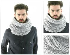 modele tricot gratuit snood homme