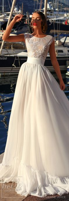 Wedding Dress by Katherine Joyce - Ma Cheri Bridal Collection #weddingdress