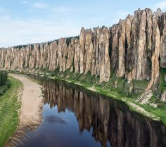 """Outta this world! """"Lenskie Stolby"""", Lena river in Siberia, Russia. #Lenskie #Stolby #Siberia #UNESCO"""