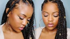 Easy Triangle Part Box Braids (Rubberband Method) [Video] - https://blackhairinformation.com/video-gallery/easy-triangle-part-box-braids-rubberband-method-video/