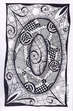 Zentangle+Letter+O+Zebra+Letters+name+bunting+by+ForeverTangles,+£3.50