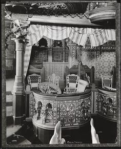 Gilded Age NYC entertainment - Casino Theater Box seat, c.1900. Located at: Broadway & 39th St. NY. ~~ {cwl}