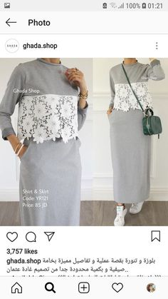 24 Super Ideas For Style Fashion Hijab Sport Casual Hijab Outfit, Hijab Dress, Dress Skirt, Women's Dresses, Fashion Dresses, Trendy Fashion, Womens Fashion, Style Fashion, Trendy Style