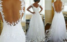 Wedding dress low back