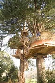 La cabane dans les arbres Tribu pour 9 personnes à 5 et 9 mètres de haut, cabanes sur l'eau, tonneau, hébergements insolite, piscines, activités, loisirs, animation, nature, vacances, séjour, bretagne