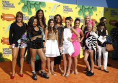 "The cast of ""Dance Moms"" Season 5 at the 2015 Kids' Choice Awards ..."