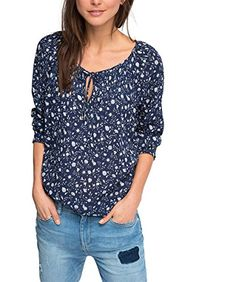 ESPRIT Damen Regular Fit Bluse 016EE1F004, Gr. 40, Mehrfarbig (NAVY 2 401)   http://www.damenfashion.net/shop/esprit-damen-regular-fit-bluse-016ee1f004-gr-40-mehrfarbig-navy-2-401/