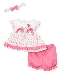 Love this Pink Ladybug Dress Set - Infant on #zulily! #zulilyfinds