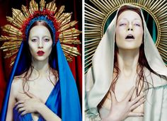 Miles Aldridge was born in London in He is the son of Alan Aldridge , an art director who designed Penguin book covers and albu. Princesa Punk, Ste Therese, Miles Aldridge, Art Photography, Fashion Photography, La Madone, Mystique, Mother Mary, Costume Makeup