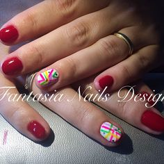 My new work today:)  #manicure, #nailart, #naildesign, #nailtech, #redgeometry