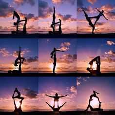 Acroyoga + Sunset is love