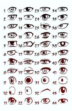 these are anime eyes… I always seem to have trouble at drawing eyes for some reason, so I may have to refer back to this one… :-):