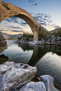 How could anyone not want to go here!  Ura e Mesit bridge / Albania (by   Rilind Hoxha).