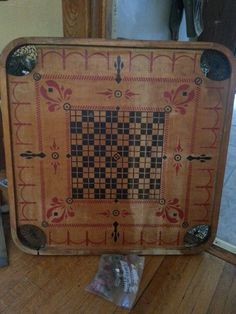 Vintage carems board.  From my own collection.