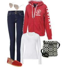 Hoodies -- Another Favorite!!  IU Tailgate Attire, created by laura-meiers.polyvore.com