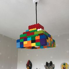 Duplo lamp. A lamp the kids actually loved. Made with Lego Duplo.  #lamp #lampa #interiorinspo #kidsinterior #kidsroom #interiör #lego #duplo