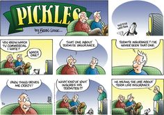Today on Pickles - Comics by Brian Crane Pickles, Non Sequitur, Calvin And Hobbes, Tv Commercials, Just For Fun, Comic Strips, Cartoons, Jokes, Animation