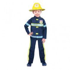 Boys Fireman Fancy Dress Costume Age 3-5 Years