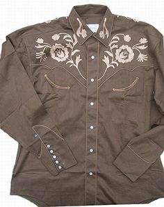 Buy Rockmount Mens Vintage Style Western Floral Embroidery Snap Shirt - Topvintagestyle.com ✓ FREE DELIVERY possible on eligible purchases
