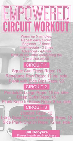Empowered Circuit Workout jillconyers.com #workout #circuitworkout #training #motivation #fitnesshealthhappiness #freedownload #healthy #fitness @jillconyers