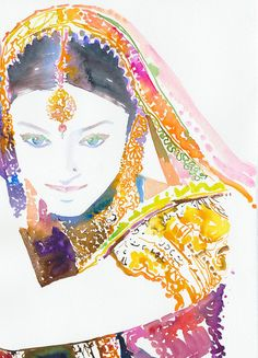 Watercolor Fashion Illustration Print  by silverridgestudio, $35.00