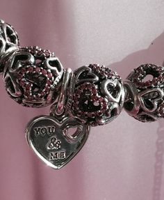 I have to get this charm to add to my bracelet. Simply beautiful! You and Me dangle charm. #PANDORAvalentines #hearts #love