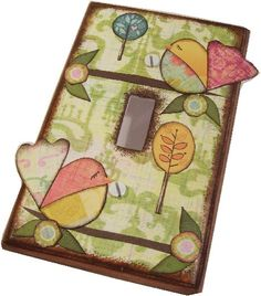 Decoupaged Light Switch Plate Cover