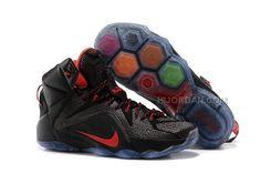 a18debacf5c5 Women Nike LeBron 12 P.S. Elite Black Red