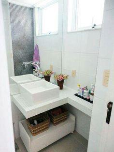 Banheiro pequeno ou lavabo