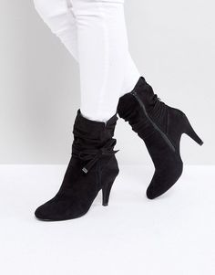 772a085a1fea Head Over Heels by Dune Head Over Heels Rayna Black Heeled Ankle Boots Black  Ankle Boots