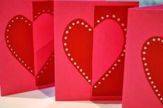 Make It... a Wonderful Life: Quick Heart Cards
