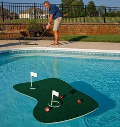 Pool Golf Game Backyard Floating Hole Putting Green Velcro Balls Mat Tee Dad | Home & Garden, Yard, Garden & Outdoor Living, Pools & Spas | eBay!
