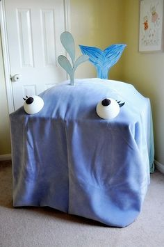 FUN! Jonah and the great fish; Make this whale by draping a blanket over the table. Then read the story of Jonah while inside the big fish. Imagine what it might smell like...feel like...sound like!