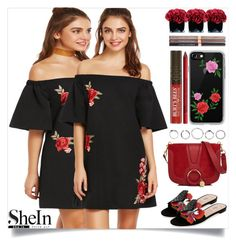 """SheIn"" by itsybitsy62 ❤ liked on Polyvore featuring See by Chloé, Valentino, Hervé Gambs, Casetify, Physicians Formula and NYX"