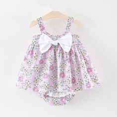 Victory! Check out my new 2-piece Bow Decor Floral Strap Dress and Ruffled Pantie Set for Toddler Girl, snagged at a crazy discounted price with the PatPat app.