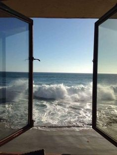 Sea Breeze happiness is a train window view on sea Beautiful World, Beautiful Places, Trees Beautiful, Window View, Am Meer, Summer Vibes, Scenery, Around The Worlds, Windows