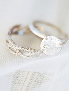 simple engagement ring (love) absolutely love the wedding band