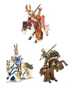 Take a look at this Knight Set by PAPO on #zulily today! $27 !!