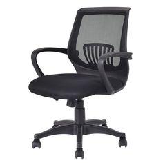 Ergonomic Mid-back Mesh Computer Office Chair Modern Desk Task Swivel Black - Furniture